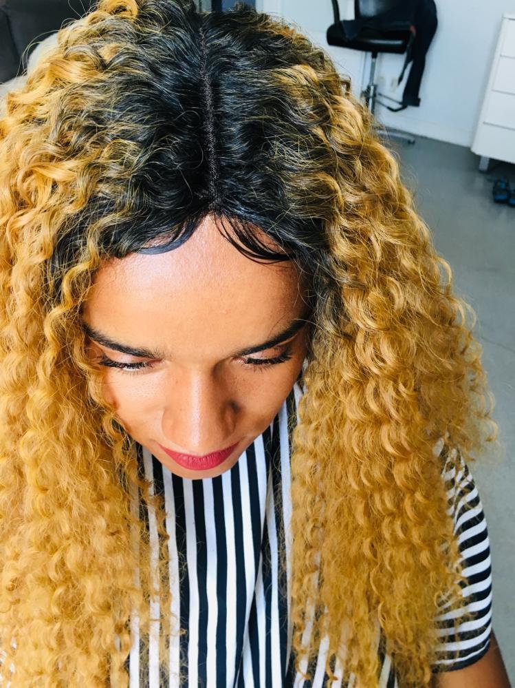 Photo Tissage coiffure Afro