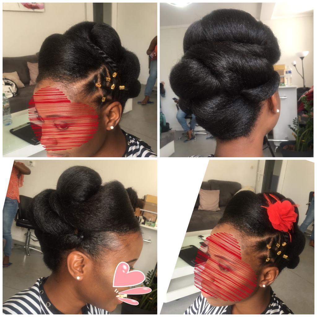 coiffure de Cérémonie Afro